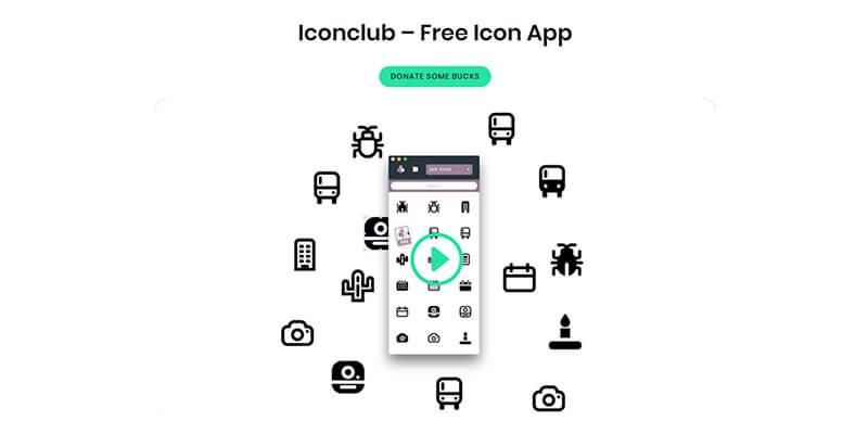Photoshopにドラッグするだけ!8,000以上の無料アイコンが揃った素材アプリ「Icon club」